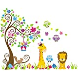 Rainbow Fox Wall Sticker Children's Wall Sticker Owl Tree Giraffe L? We Baby