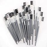 5starwarehouse®, 3 pettini e spazzole cosmetiche doppie e professionali per extension di sopracciglia e ciglia, 2in 1