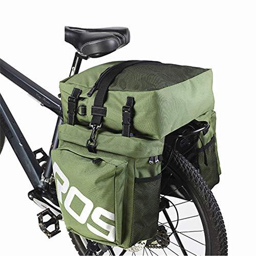 EODUDO-S Kofferraum-Satteltasche für den Rücksitz mit regendichter Abdeckung Fahrradkoffer Outdoor-Fahrrad Radfahren MTB 3-in-1-Gepäckträger-Umhängetasche, Weitere Stile (Farbe : Armeegrün)