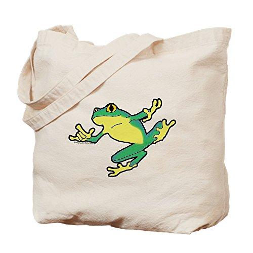 CafePress-ASL Frosch im Flug-natürliche Canvas Tote Bag, Tuch, mit Tasche, canvas, khaki, S
