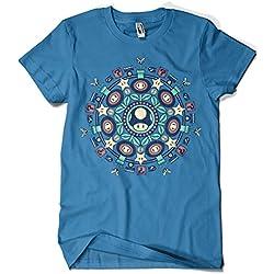 Camiseta Azul de Mandala Hombre