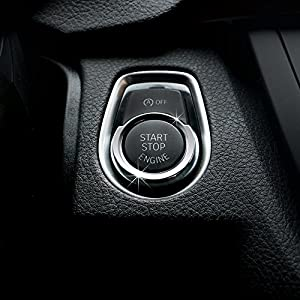 Car styling aluminum dedicato Start Button decorazione cerchio
