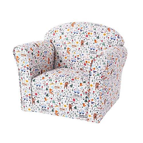 Oevina Sonnenliege Kinder Sofa massivholz Mini Cartoon Tuch weich und bequem Baby abnehmbar und waschbar (Farbe : C)