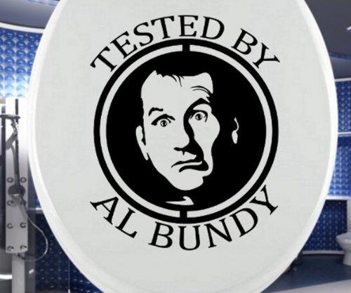 Aufkleber WC Deckel TESTED BY AL BUNDY, Toilettendeckel Sticker Klo Bad, lustiger Spruch Wandtattoo Badezimmer Türaufkleber Autoaufkleber 3C037