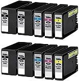 10 Tintenpatronen kompatibel zu PGI-1500XL für Canon Maxify MB2000 MB2050 MB2300 MB2350 - Schwarz/Cyan/Magenta/Gelb, hohe Kapazität