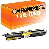 Gorilla-Ink® 1x Toner-Kartusche XXL kompatibel zu Konica Minolta 1600 Gelb Magicolor 1600 W 1650 EN 1650 EN D 1650 EN DT 1650 Series 1680 MF 1690 MF