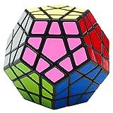 EASEHOME Megaminx Speed Cube, 3x3 Dodecahedron Magic Puzzle Cube Magique Cubo avec Autocollant de PVC pour Enfants et Adultes, Noir