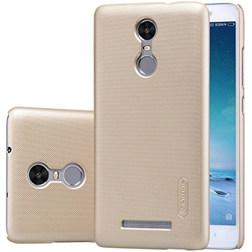 Nillkin XiRedMiNT3Gold Frosted Shield Slim Fit Back Case Cover for Xiaomi Redmi Note 3 (with Nillkin Screen protector), Gold