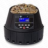 Münzzähler Euro Geldzählmaschine Münzen Münzzählmaschine SR-1450 LCD von Securina24® (Schwarz - BBB)