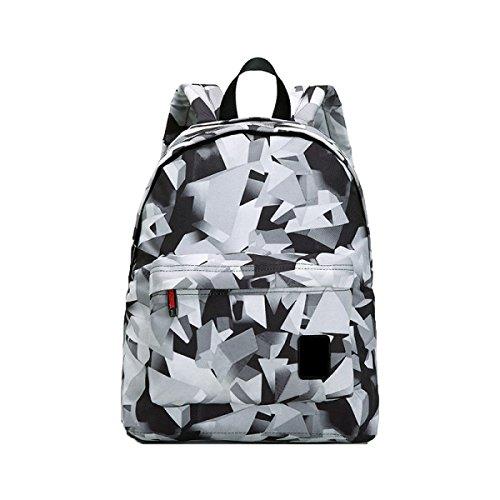 Preisvergleich Produktbild Frauen Rucksack Mode Lässig Student Tasche,BlackAndWhite-14Inches