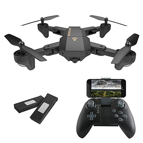 IZI Advance HD Camera Drone 2.0Mp Wifi FPV Quadcopter With 720P 120° Wide Angle Camera Foldable - Black