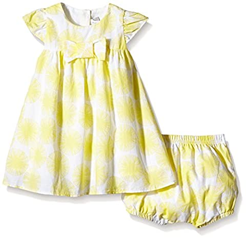 Absorba Baby Girls Fully Printed Dress - Yellow - 3-6 Months