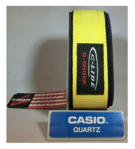 Band G-shock-uhr Ersatz (Casio Armbanduhr (Digitaluhr Glide g-lide dw-003V-9V Nylon Armband 23mm gelb auf Blau Authentic Casio Klettverschluss Band)