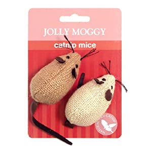 Jolly Moggy Catnip Mice by Rosewood Pet Products