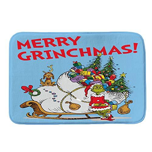 gaddrt Frohe Weihnachten Willkommen Fußmatten Indoor Home Teppiche Decor 40x60CM (B)