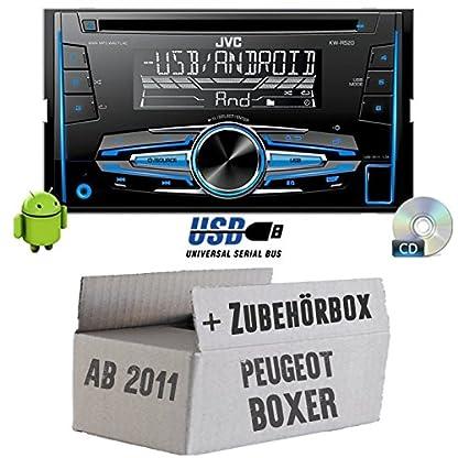 Peugeot-Boxer-2-ab-2011-2DIN-JVC-KW-R520E-2DIN-Autoradio-Radio-Einbauset