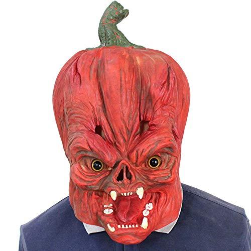 HOROMAK Halloween Kürbis Kopfmaske Lustige Maskerade Kleid Spielt Die Rolle Der Kopfbedeckung Ghost Latex Maske (Tarzan Halloween Kostüm)
