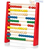 Childrens Large Wooden Bead Abacus Counting Frame - Educational Maths Toy