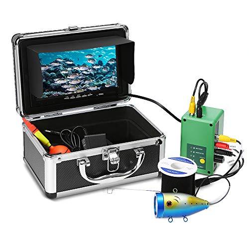 Godyluck 7 '' Portable Fish Finder 1000TVL TFT Monitor wasserdichte Unterwasservideokamera Kit 30PCS LEDs Nachtsicht Fisch Finder Ausrüstung für Ice Lake Boat Reservoir Fishing Portable Fishfinder