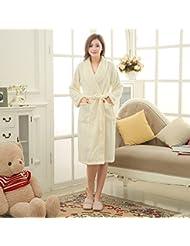 Lkklily-warm en automne et Hiver Maison Pyjama avec manches longues en dentelle pour femme peignoirs