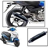 #9: Vheelocityin ExhaustShop Big Black Motorcycle Exhaust Free Flow Exhaust Silencer For Honda Dio 2015