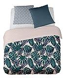 PALMAS 260x240 cm - SOLDES (visualisez tous nos soldes dans notre boutique Doran Sou Amazon) - Parure de lit pour 2 personnes : Housse de couette 260x240 cm + Taies d'oreiller 65x65 cm