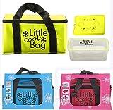 Riya 3 Farben Kühltasche mit Kühlakku und Brotdose Kühl-Set Lunchbox Picknick (Pink)