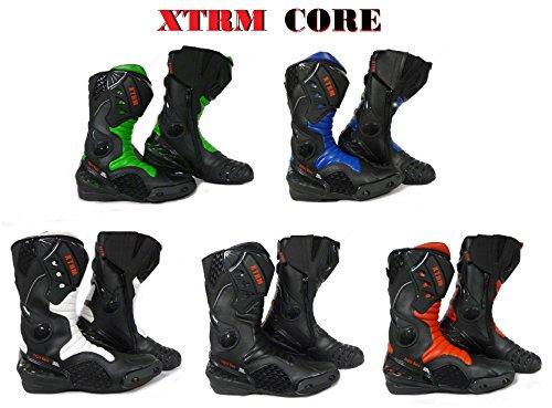MOTORRADSTIEFEL XTRM CORE TRACK MX RACING SPORTS ALLROUND STIEFEL ALLE NEU FARBE (BLAU, 45)