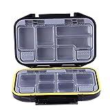 Trendyest 11,5cm Länge Double Layer Wasserdicht Angeln Werkzeug Aufbewahrungsbox Lure Box,...