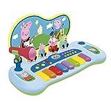 REIG 2328 - Peppa Pig Keyboard mit Figuren und Mikrofon