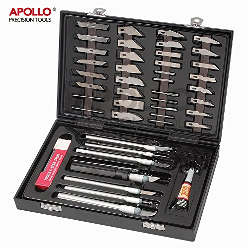 apollo-57-piece-hobby-modeling-scrapbooking-and-crafts-knife-set