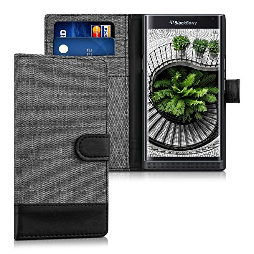 kwmobile-wallet-case-canvas-cover-for-blackberry-priv-flip-case-with-card-slot-and-stand-in-grey-bla