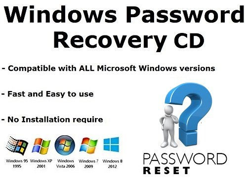 WINDOWS PASSWORD RESET & REMOVAL TOOL CD - All Microsoft Windows Versions