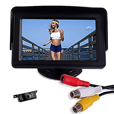 Anti-glare High Resolution 4.3 inch TFT LCD Color 2 Video