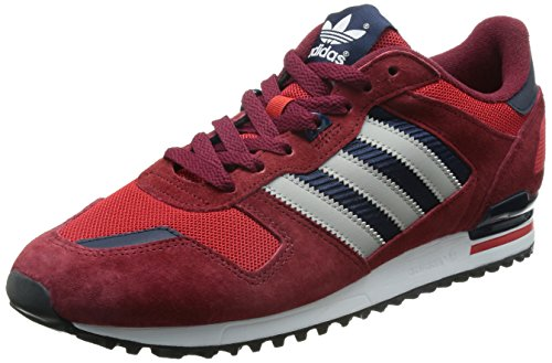Adidas Zx 700, Sneakers Basses Adulte Mixte Rouge (collegiate Burgundy/mgh Solid Grey/scarlet)