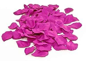 Sachet de 144 petales de rose fuschia polyester
