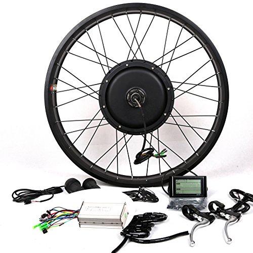 "48V1500W Hub Motor Ebike Bicicleta ELÉCTRICA KIT DE CONVERSIÓN + LCD+ Tire Theebikemotor (Rear Wheel, 26"")"