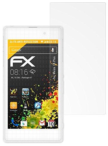 atFolix Panzerfolie kompatibel mit Meizu 15 Plus Schutzfolie, entspiegelnde & stoßdämpfende FX Folie (3X)