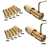 Yakamoz 14pcs 0.5-3mm Small Electric Drill Bit Collet Micro Twist Drill Chuck Set with Allen Wrench