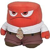 Disney Inside Out, Plüschfigur Anger, 25cm hoch, für Kinder ab 0 Monaten || Alles Steht Kopf Stoff Puppe Plüsch Figur Weichpuppe Plüschtier