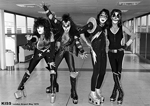 KISS POSTER LONDON AIRPORT 1976