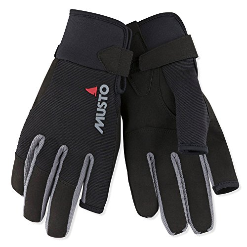 Musto 2018 Essential Segelhandschuhe Sailing Long Finger Gloves Black AUGL002 Size - - Extra Extra Large