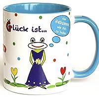 Tasse für Hebamme, blau, Geschenkidee Hebamme, beste Hebamme der Welt, Dankeschön für beste Hebamme, Hebamme Tasse, Hebamme Geschenkidee, Hebamme Geschenk
