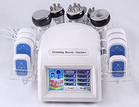 Elitzia ETWL929S 7 en 1 laser amincissant 40 k preuve bipolaire RF rides détoxification de la pression négative de l'équipement de beauté en plastique