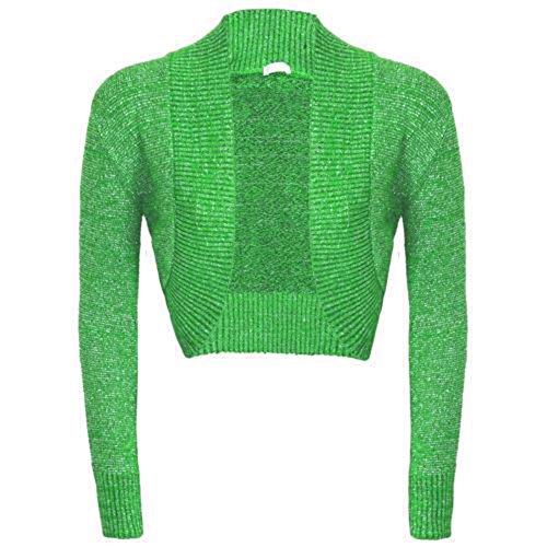 Manches longues plain de Janisramone femmes shrug top cardigan Vert