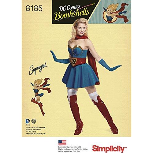 Simplicity 8185 R5 Schnittmuster D.C Bombshells Super Girl -