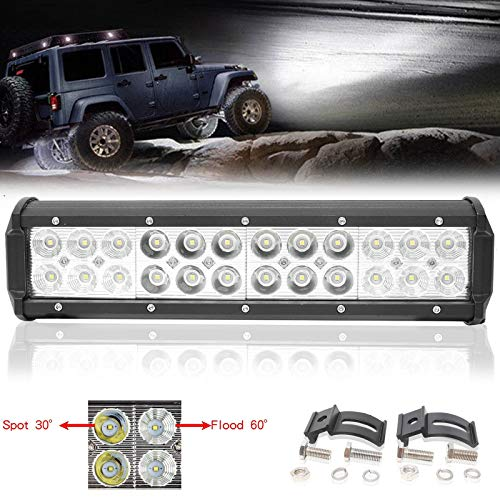 Extra helle LED-Lichtleiste als Suchscheinwerfer, Spotleuchte, Nebelleuchte für Geländewagen, SUV, Geländewagen, Quad und Boot, 12 V, 24 V, 180 W.