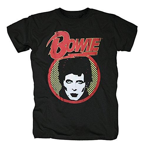 TSP David Bowie T-Shirt Herren XXL (Halloween David Kostüm Bowie)