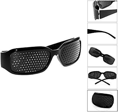 Grenhaven - Gafas estenopeicas / reticulares - Para mejorar la vista - Negro