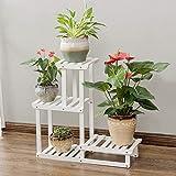 HhGold Massivholz Blumentopf Stand Stand Multilayer Regal Chlorophytum Wohnzimmer Topfpflanze Rack Balkon Indoor Bonsai 75 & mal; 25 & Times; 71 cm (Farbe: Weiß) (Farbe : Weiß, Größe : -)